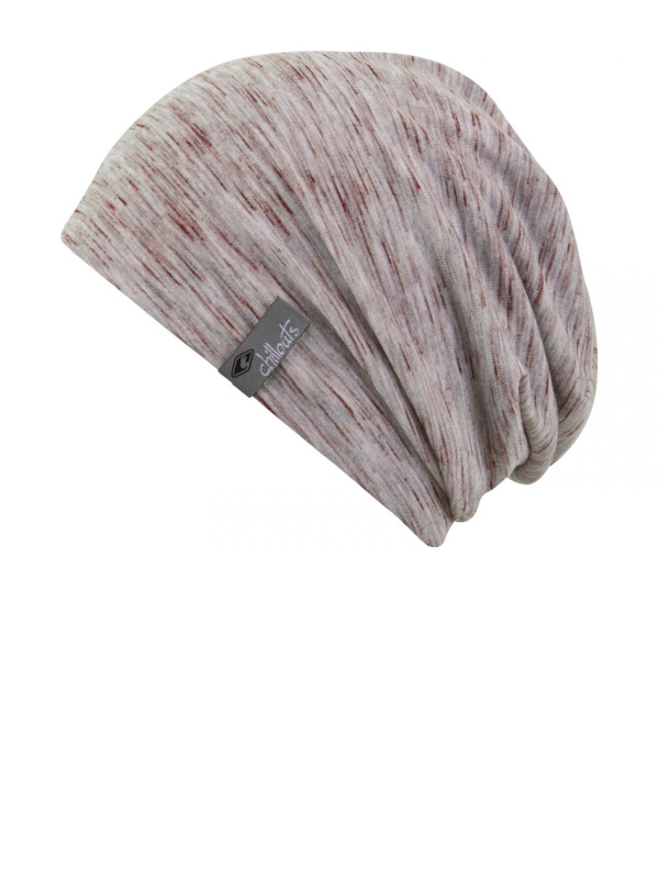 Beanie Leeds Grey with Bordeaux - chemo hat / alopecia hat
