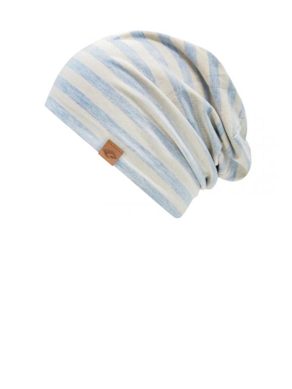 Cambridge Blue Stripes - chemo hat / alopecia headwear