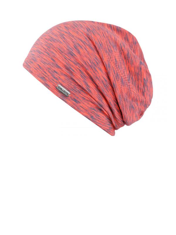 Beanie Helsinki orange/grey UV 50+ - chemo hat / alopecia headwear