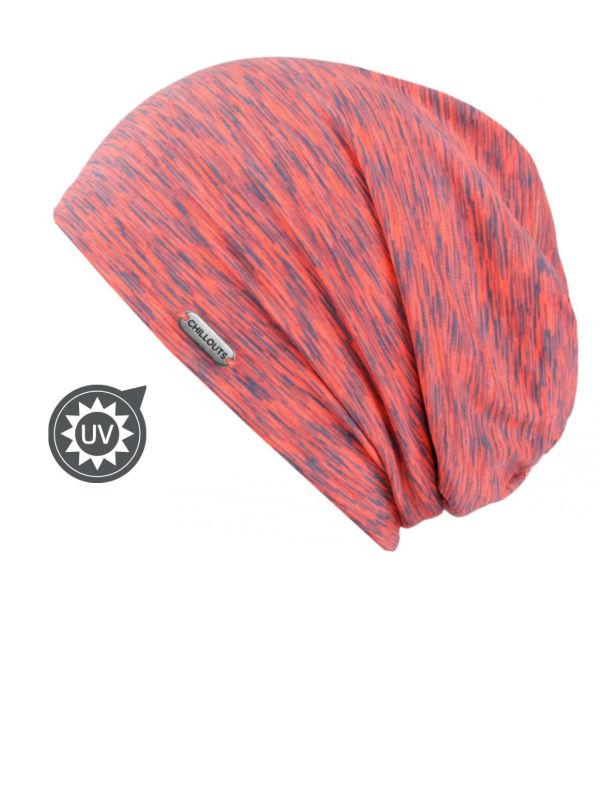 Beanie Helsinki pink/grey UV 50+ - chemo hat / alopecia headwear
