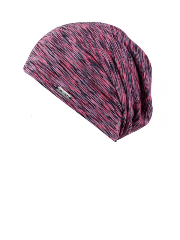 Beanie Helsinki black and pink SPF 50+ - chemo hat / alopecia headwear