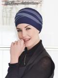 Top Shanti blauw lila - chemo mutsje / alopecia hoofdbedekking - EN