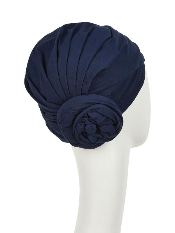 Turban Zuri Navy - chemo headwear / alopecia hat