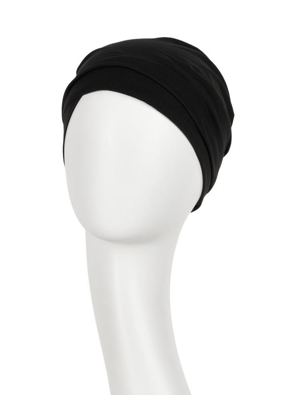 Turban Zuri Black - chemo headwear / alopecia hat