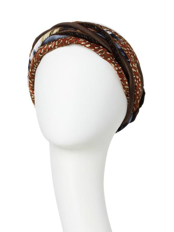 Turban Scarlett Structured Brown - chemo hat