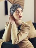 Turban Sapphire Floral Woods - cancer hat / alopecia headwear