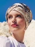 Turban Shakti Linen Caramel Dreams - cancer hat / alopecia headwear
