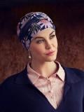 Turban Shakti Flowering Blues - chemo hoofdbedekking / alopecia mutsje - EN