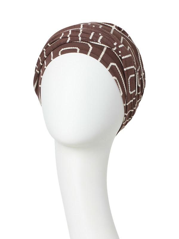 Turban Shakti Graphic Pearl - cancer hat / alopecia headwear