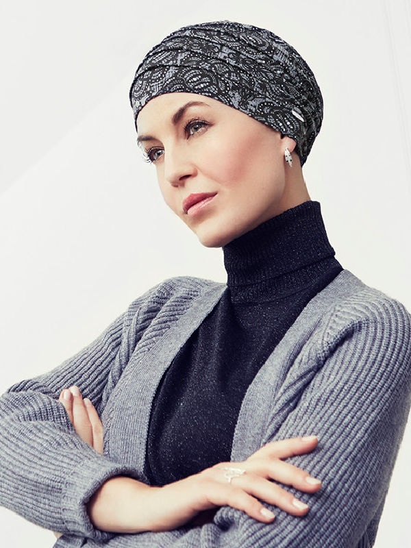 Top Yoga Rococo Lace - cancer hat / alopecia headwear