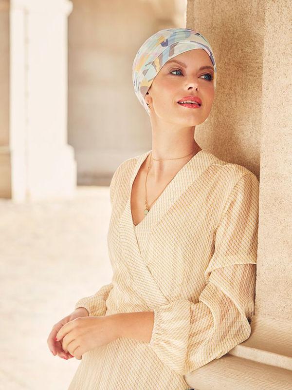 Top Yoga Graphic Zebra - cancer hat / alopecia headwear