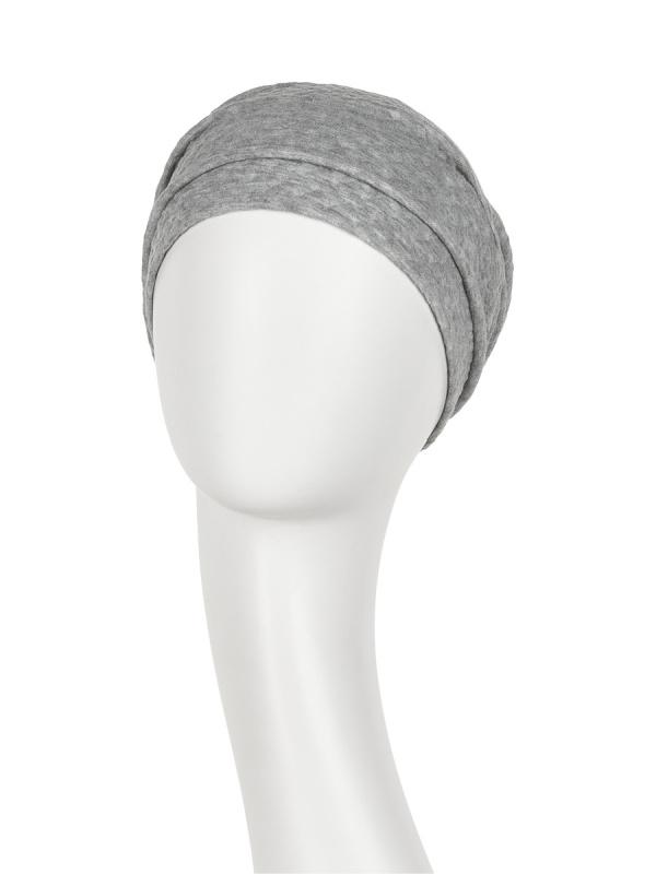 Turban Nelly V grey - chemo hat / alopecia turban