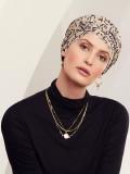 Turban Rosa V Twirls - chemo hat / alopecia headwear