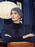 Turban Nelly V leopard - chemo hat / alopecia turban