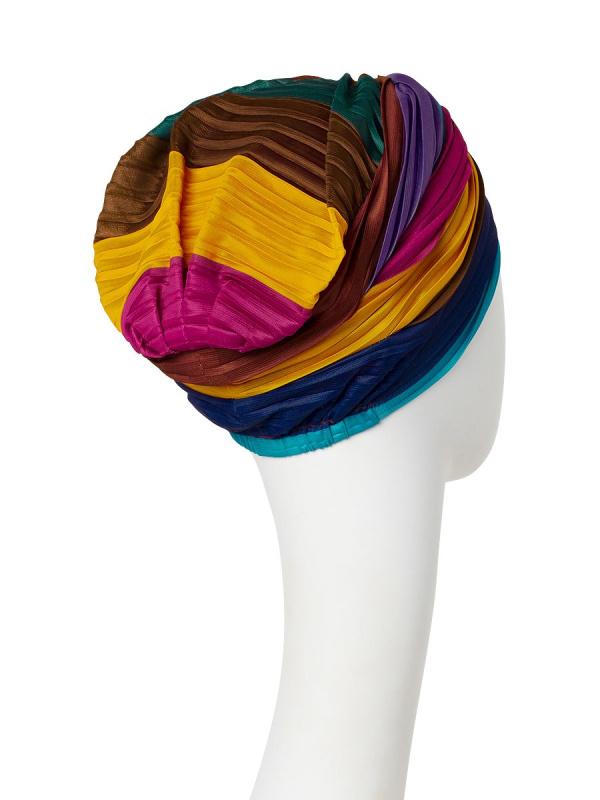 Turban Luna V  Rainbow II - chemo hat / alopecia turban