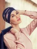 Top Shanti Flowering Blues - chemo hat / alopecia headwear