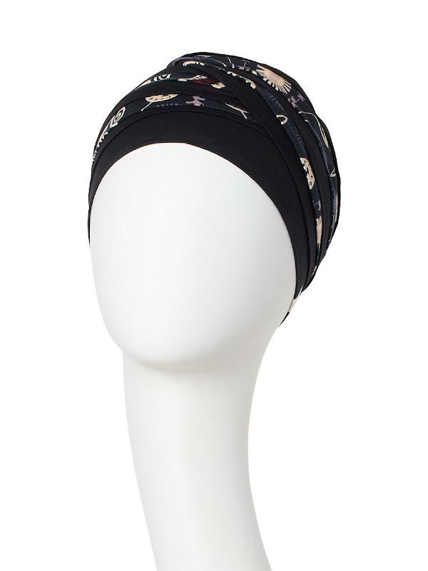 Top Shanti Phantom Grey -  chemo hat / alopecia headwear