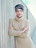 Top Shanti Sand Black - chemo hat / alopecia headwear