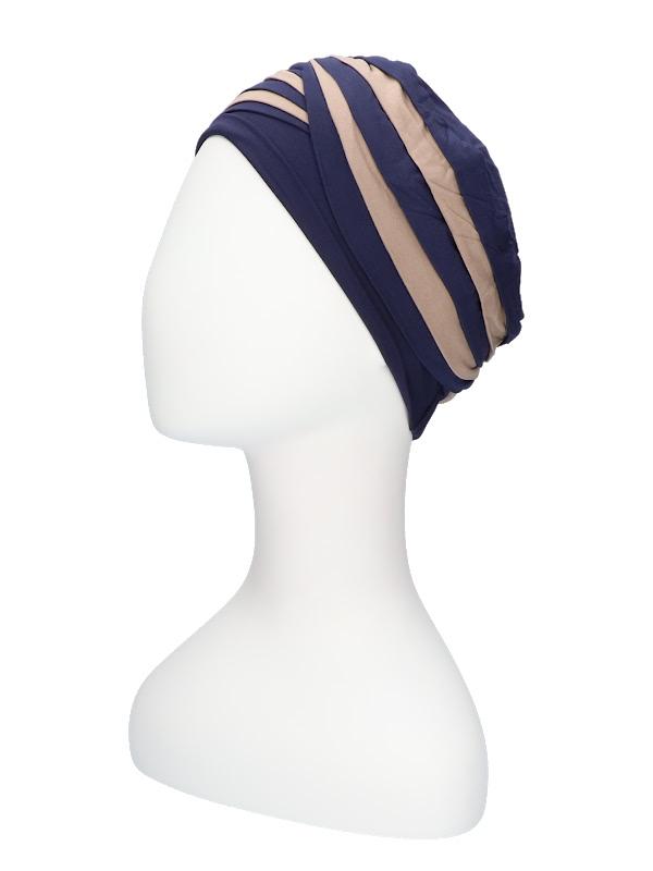 Top Shanti Night Blue/Dark Sand - chemo hat / alopecia headwear