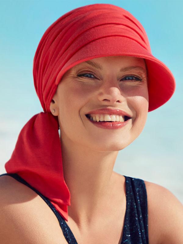 Cap B.B. Brianca Red - chemotherapy headwear / alopecia cap