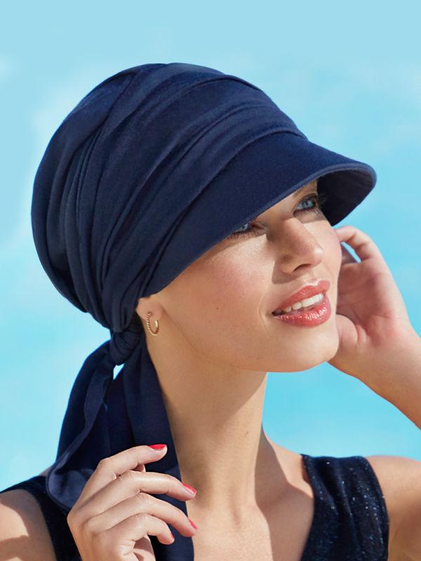 Cap B.B. Brianca Blue - chemotherapy headwear / alopecia cap