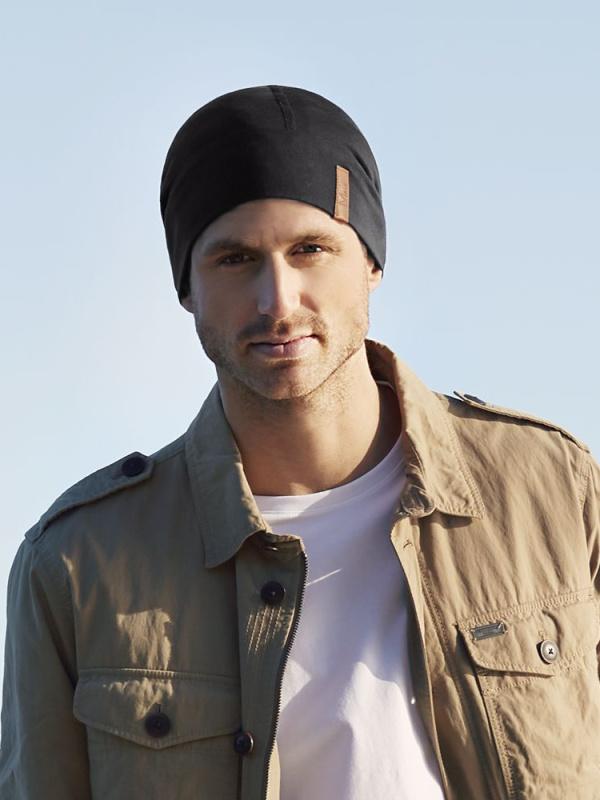 Hat B.B. Bentley - black - mens chemo hat / alopecia headwear
