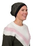 Top Mix Zebra Olive - chemo hat / alopecia hat