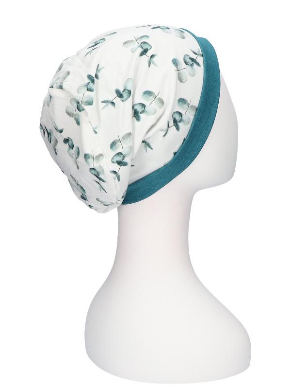 Top Mix Eucalyptus Petrol - chemo hat / alopecia hat