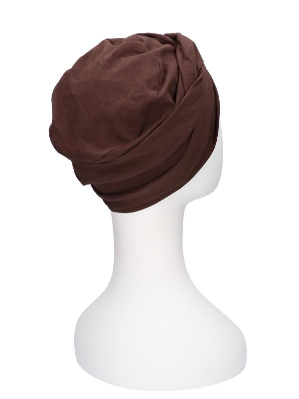 Top PLUS brown - chemo hat / alopecia hat