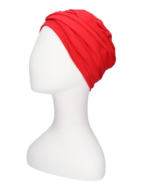 Top PLUS red - chemo headwear / alopecia turban