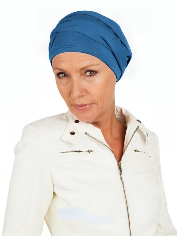 Top PLUS blue - chemo hat / alopecia hat