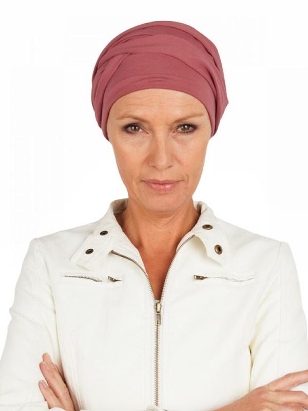 Top PLUS blush - cancer hat / alopecia hat