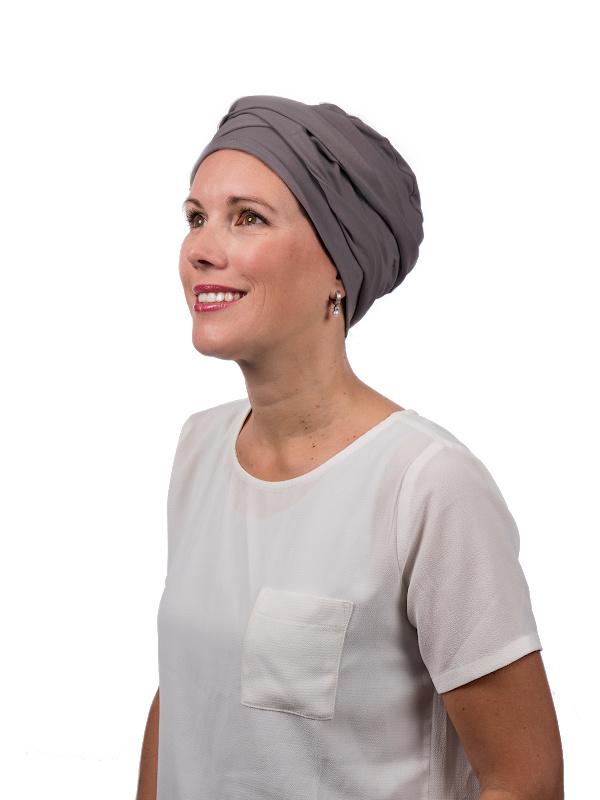 Top PLUS SilverGrey - chemo hat / alopecia hat