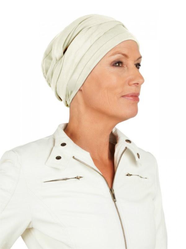 Top PLUS ivory - chemotherapy headwear / alopecia hat