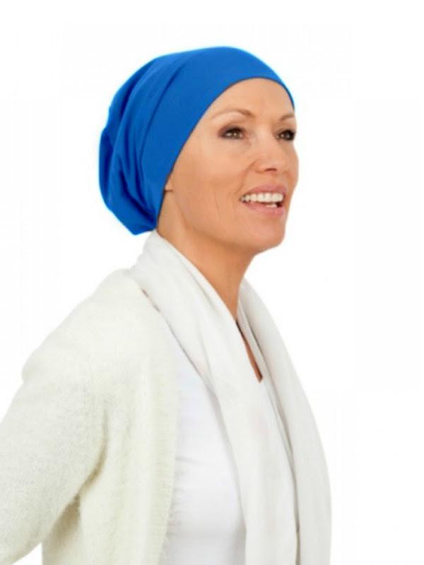 Top Tio sky  blue - chemo hat / alopecia hat