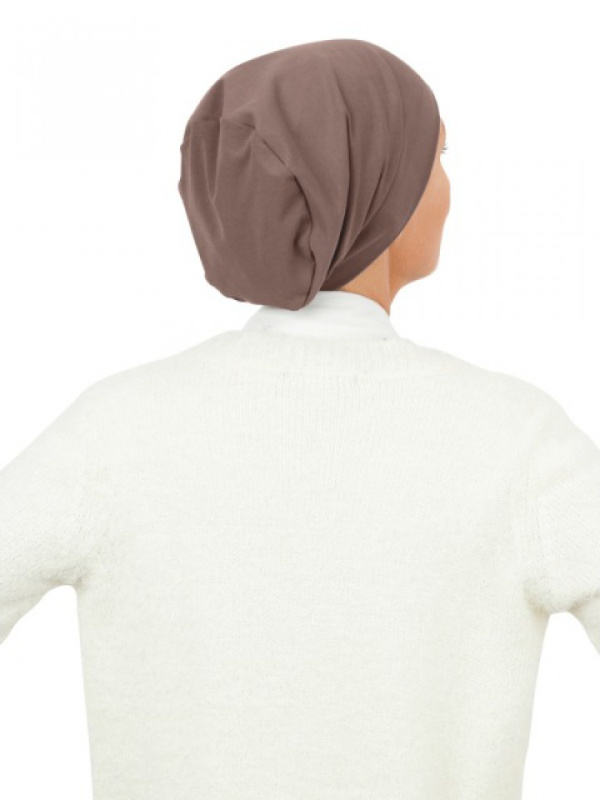 Top Tio taupe - chemo hat / alopecia hat