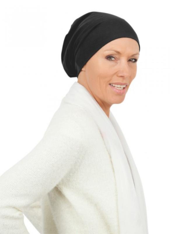 Top Tio black - chemo hat / alopecia hat