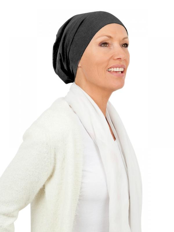 Top Tio Charcoal melee - chemo hat / alopecia headwear
