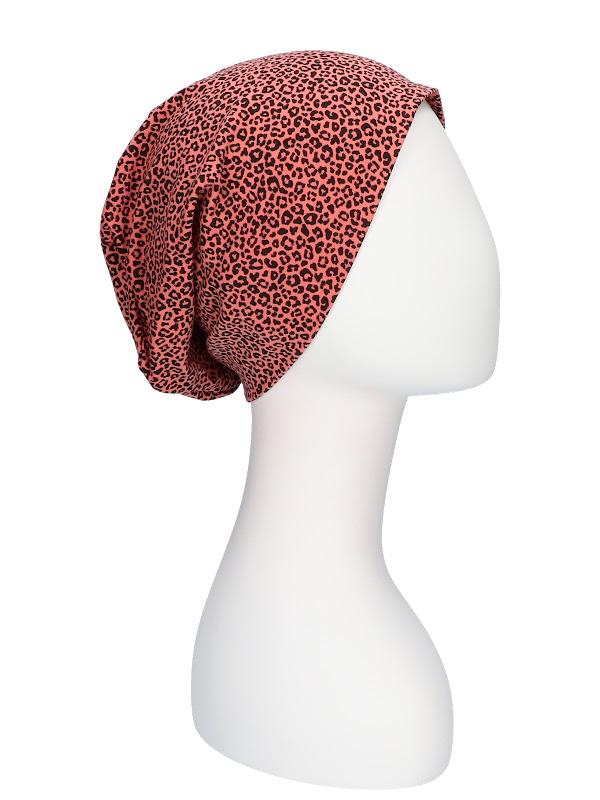 Top Tio Leopard brique - chemo hat / alopecia hat
