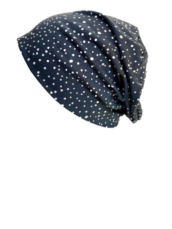 Top Tio Blue Dots - chemo hat / alopecia hat