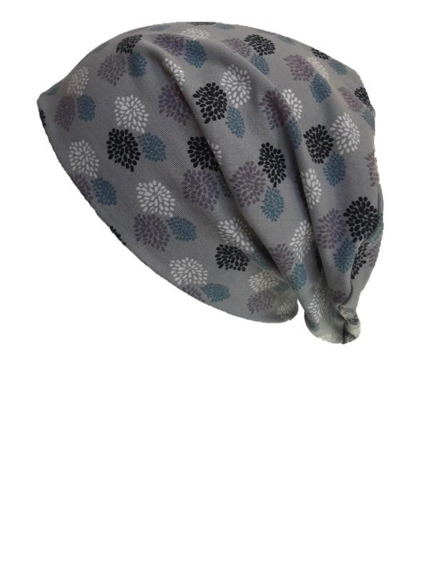 Top Tio Fireworks Grey - chemo hat / alopecia hat