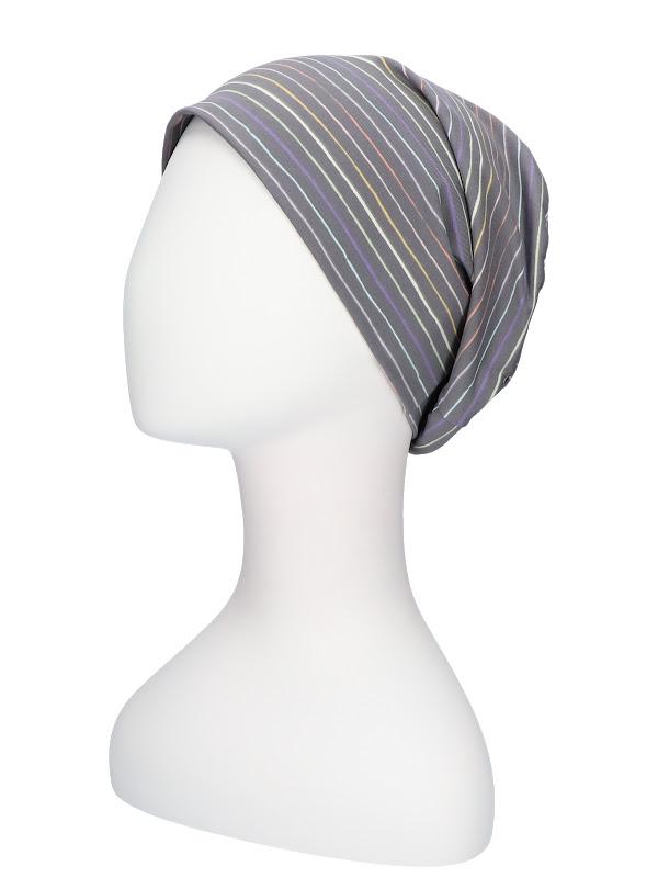Top Tio Stripes Rainbow - chemo hat / alopecia headwear