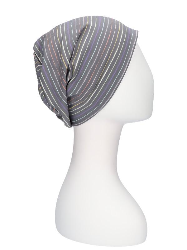 Top Tio Stripes Rainbow - chemo headwear / alopecia hat