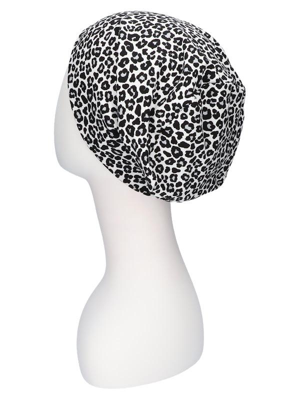 Top Tio Leopard black and white - chemo hat / alopecia hat
