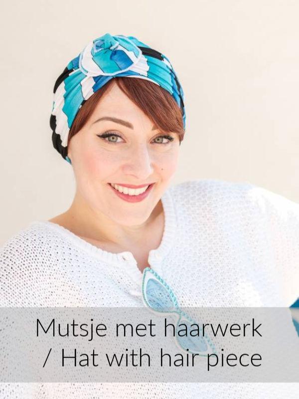 Turban Primavera Pool - chemo mutsje / alopecia mutsje - EN