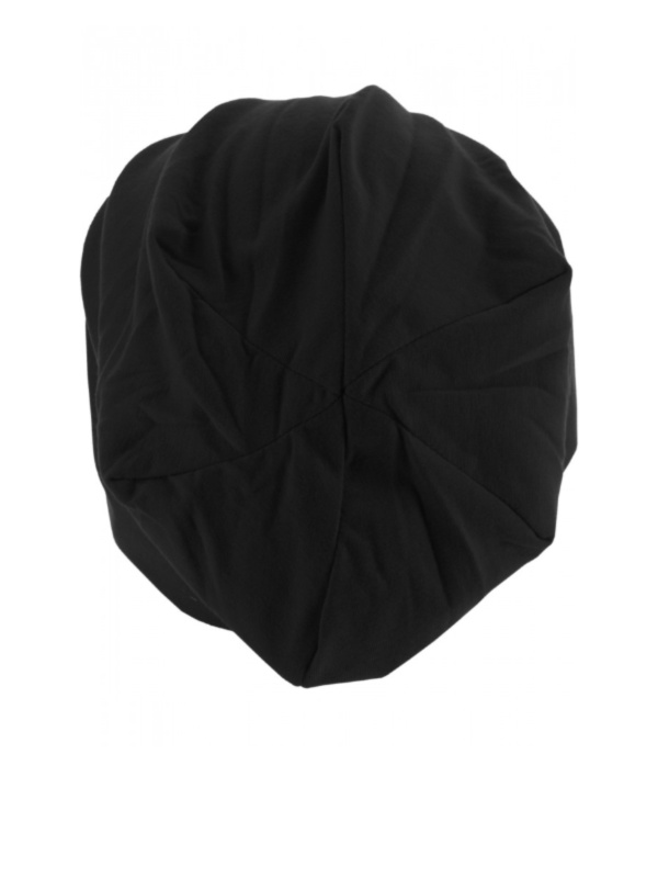 Top beanie  jersey 10285 black - chemo hat / alopecia hat