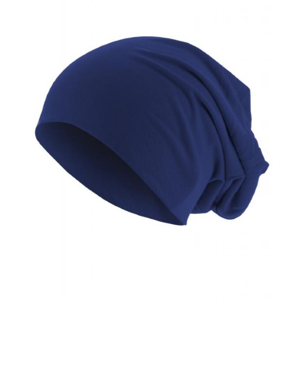 Top beanie  jersey 10285 royal blue - chemo mutsje / alopecia mutsje - EN