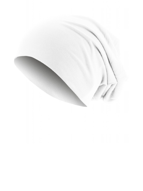 Top beanie  jersey 10285 white - chemo hat / alopecia hat