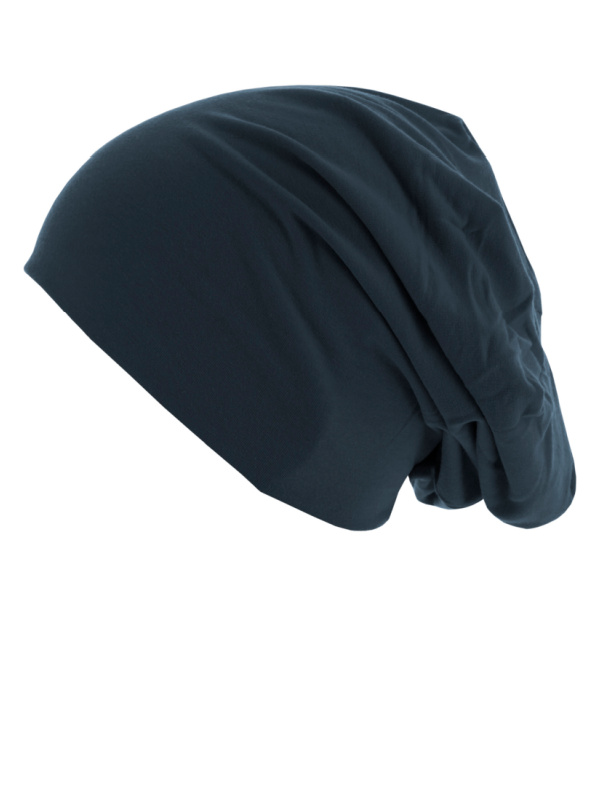 Beanie Reversible - Turquoise & Navy - chemo hat / alopecia hat