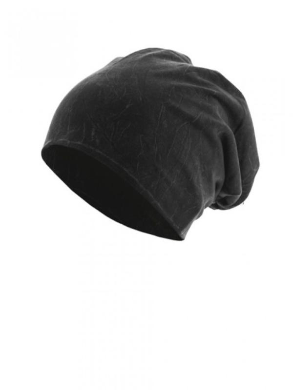 Top stone zwart - chemomutsje / alopecia hoofdbedekking - EN